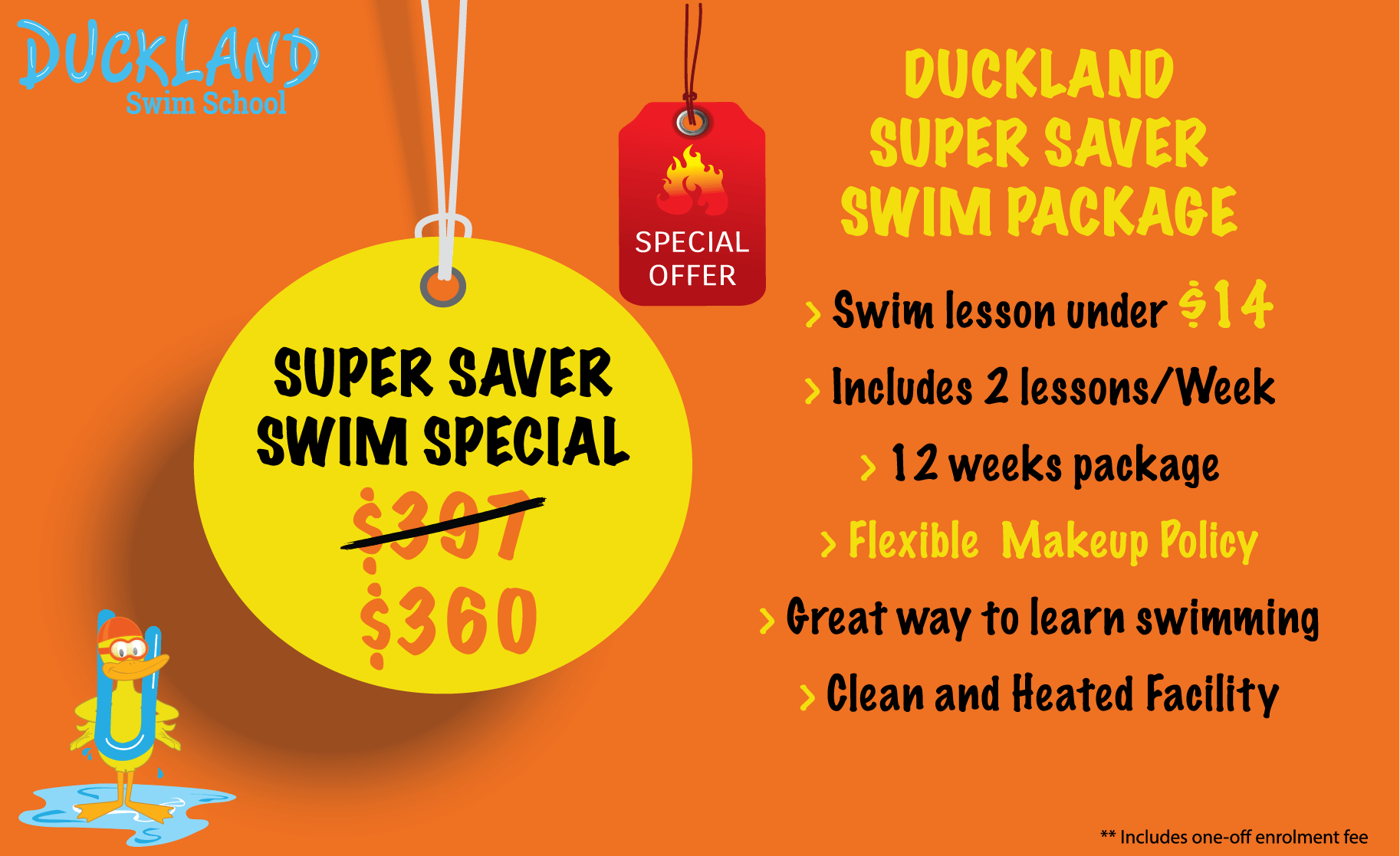 cheap swimming lessons for kids
